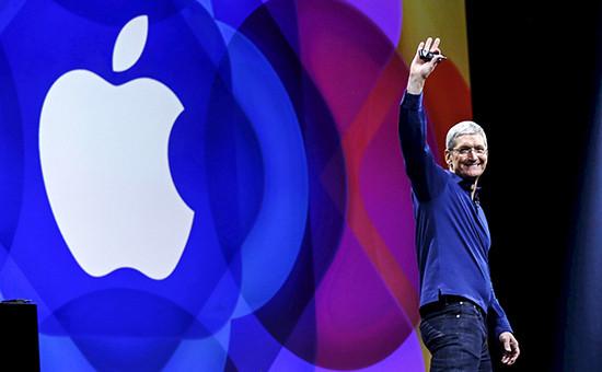 Глава Apple Тим Кукнаежегодной презентации. Архивное фото
