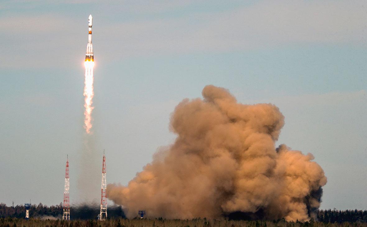 Запуск космического ракеты-носителя «Союз-2.1б» с космодрома «Плесецк»