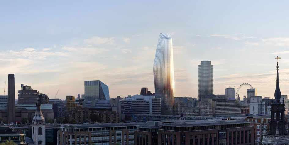 Небоскреб One Blackfriars в центре Лондона