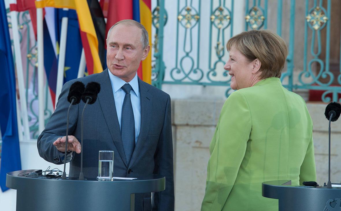 Владимир Путин и АнгелаМеркель