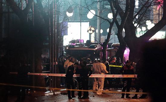 На месте взрыва вАнкаре, 13 марта 2016 года