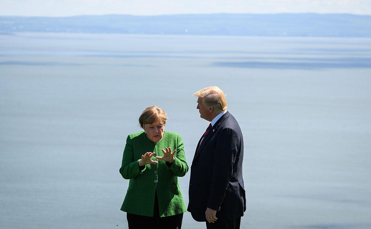 СМИ узнали о «горячем» споре Трампа и Меркель из-за «Северного потока-2»