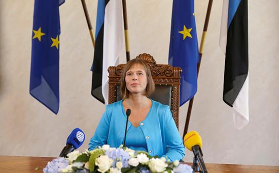 Избранная президентом Эстонии Керсти Кальюлайд