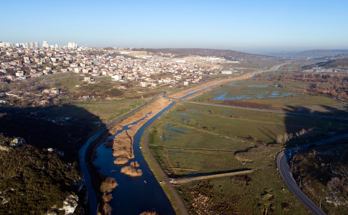 Вид на маршрут канала «Стамбул»