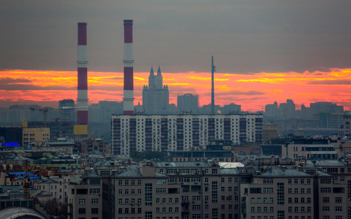 Вид на район Дорогомилово в Москве