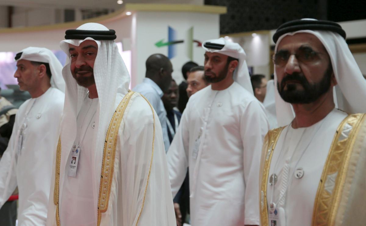 Правитель ОАЭ Халифа ибн Зайд Аль Нахайян и члены правящей семьи