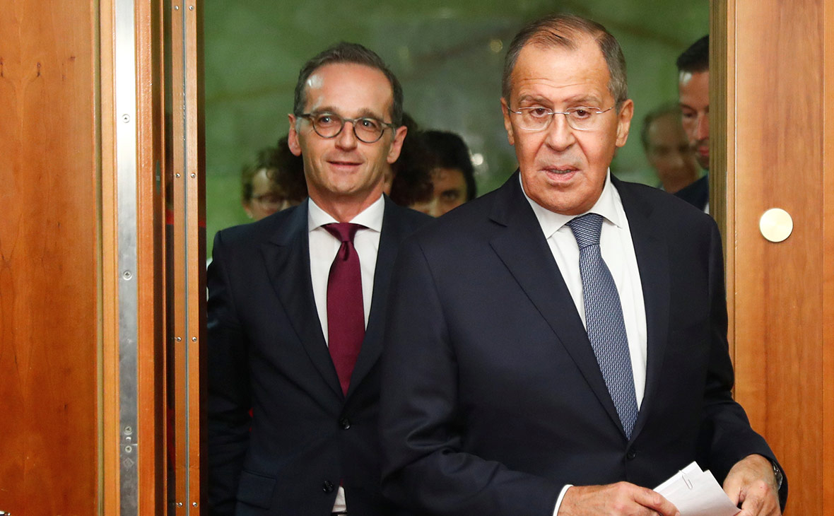 Хайко Маас (слева) и Сергей Лавров