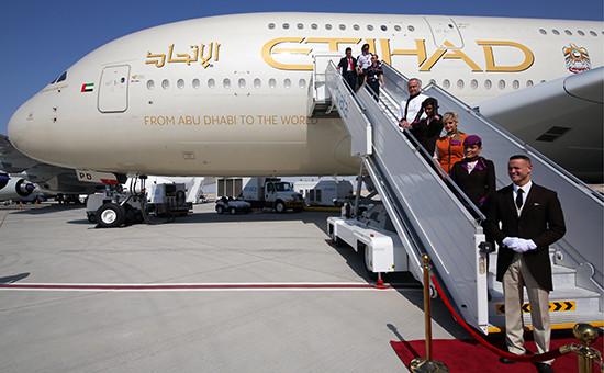 Пассажирский самолет Airbus А380 авиакомпании Etihad Airways