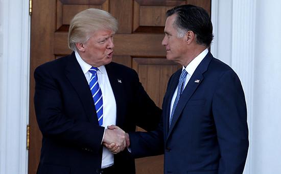 Дональд Трамп и и Митт Ромни