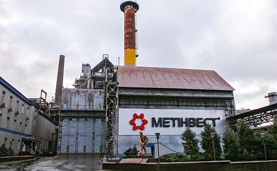 Доменный цех Енакиевского металлургического завода в Донецкой области