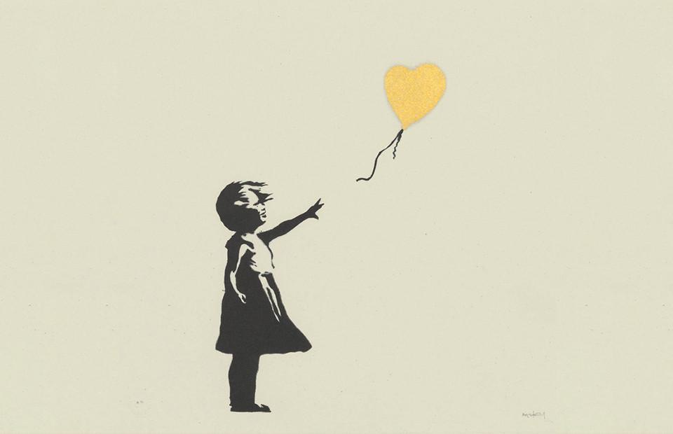 Бэнкси, «Девочка с шаром» в золотом цвете