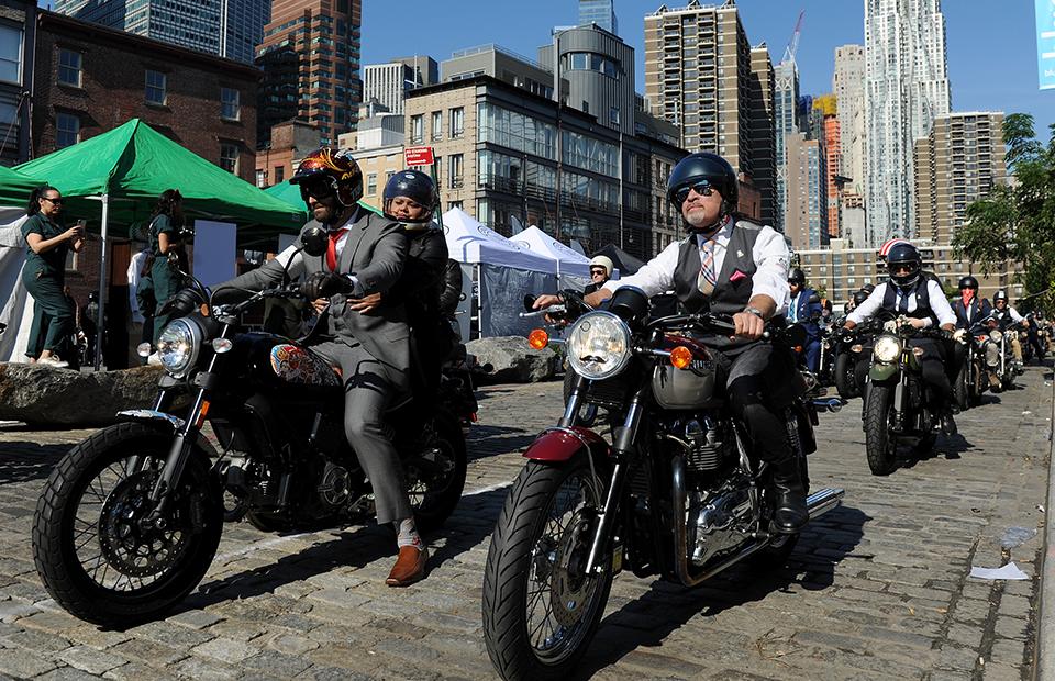Благотворительный мотопробег в Нью-Йорке