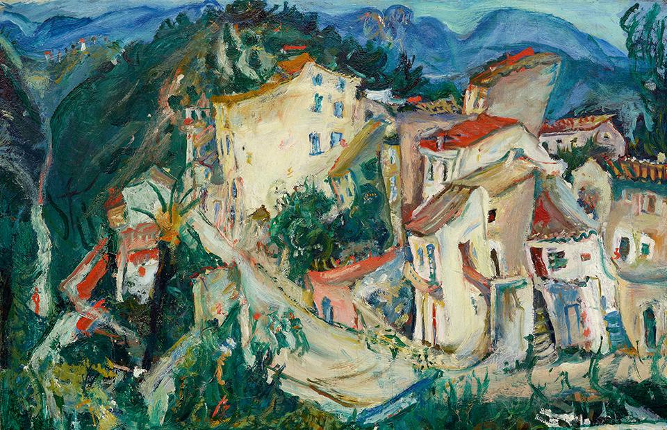 Хаим Сутин. «Пейзаж Кань», 1924–1925