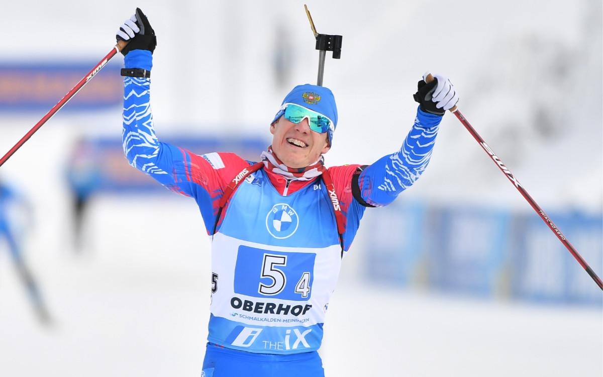 Финишер сборной России по биатлону Эдуард Латыпов