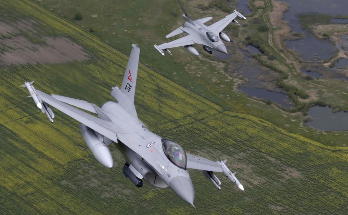 Истребители F-16 ВВС Норвегии
