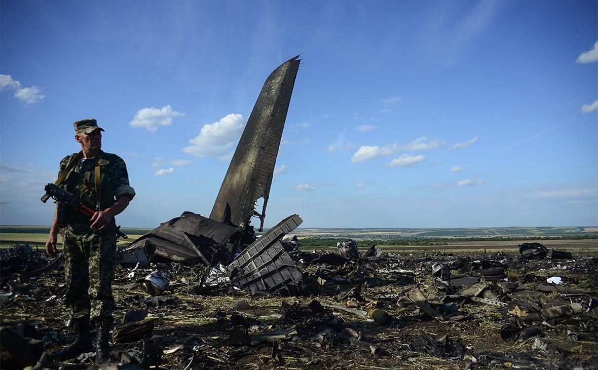 Место падения самолета Ил-76