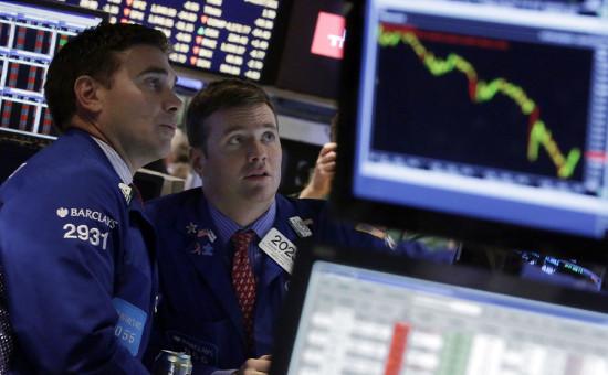 Трейдеры наНью-Йоркской фондовой бирже