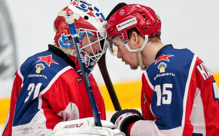 Фото: Хоккеисты ЦСКА (Фото: Global Look Press)