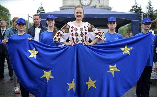 Во время празднования Дня независимости Молдавии, 28 августа 2014г.