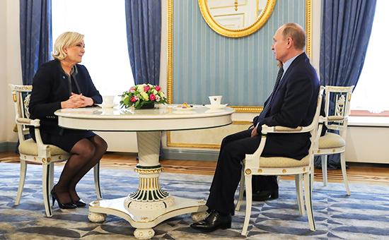Марин Ле Пен и Владимир Путин