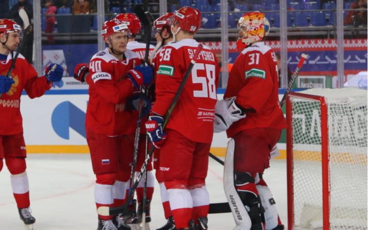 Фото: Хоккеисты сборной России (Фото: Global Look Press)