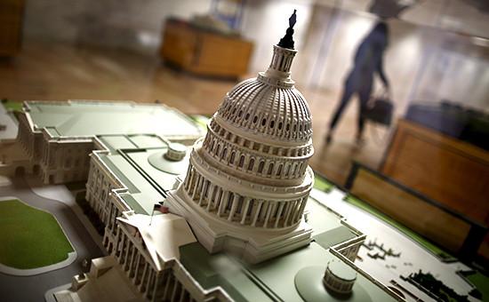 Макет Капитолия в здании конгресса США