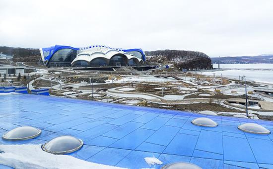 Вид на Приморский океанариум во Владивостоке