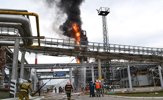 Пожар на Саратовском НПЗ. Архивное фото