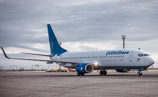 Самолет бюджетной авиакомпании «Победа»
