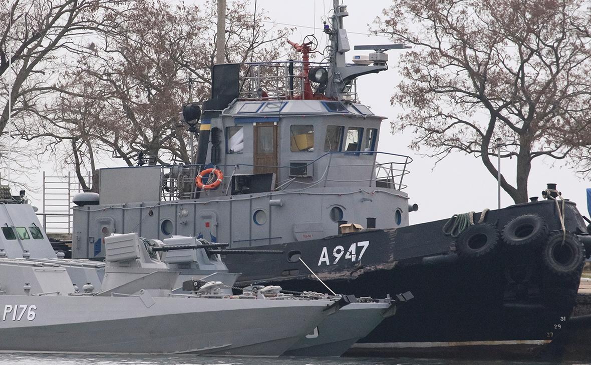 Корабли ВМС Украины в порту Керчи