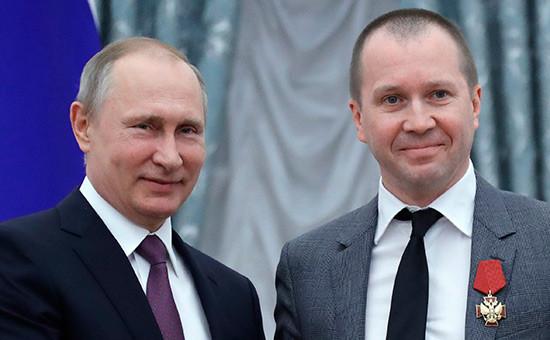 Владимир Путин иЕвгений Миронов