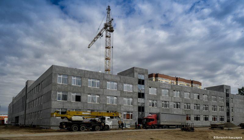В Перми новая школа на ул. Юнг Прикамья строится с опережением графика