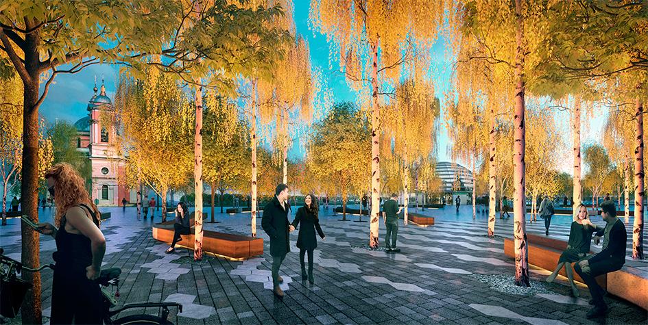 Проект благоустройства городских территорий в Зарядье
