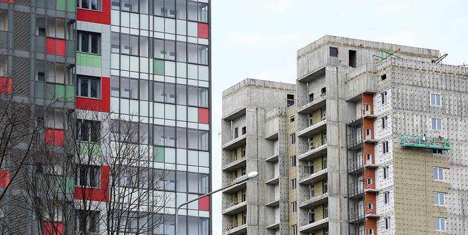 Новый многоквартирный дом на проспекте Вернадского, 61, корп. 3, который построен в рамках программы реновации жилищного фонда столицы