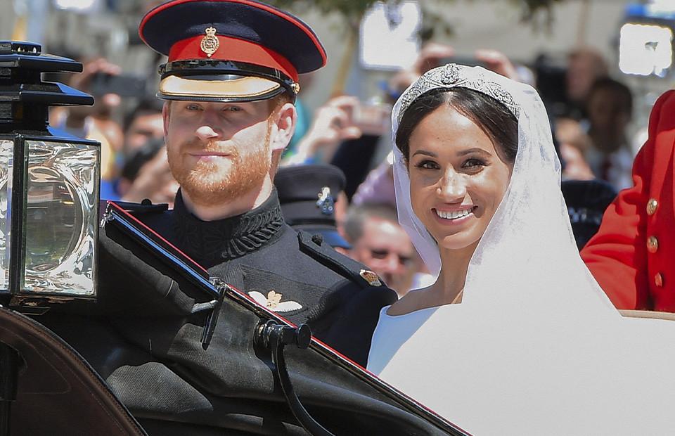 Принц Гарри и Меган Марклв день свадьбы 19 мая 2018 года