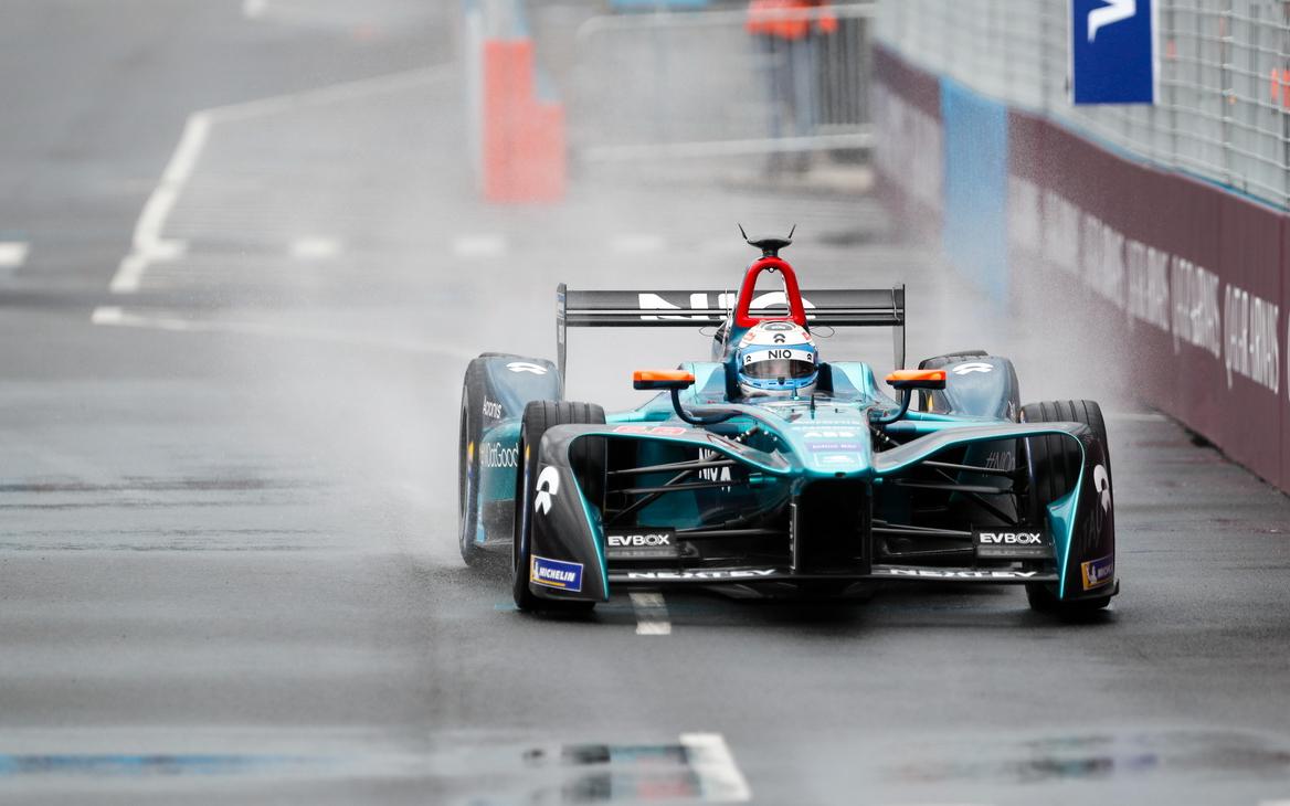 Электрокар NIO на гонке Formula E в США в 2018 году