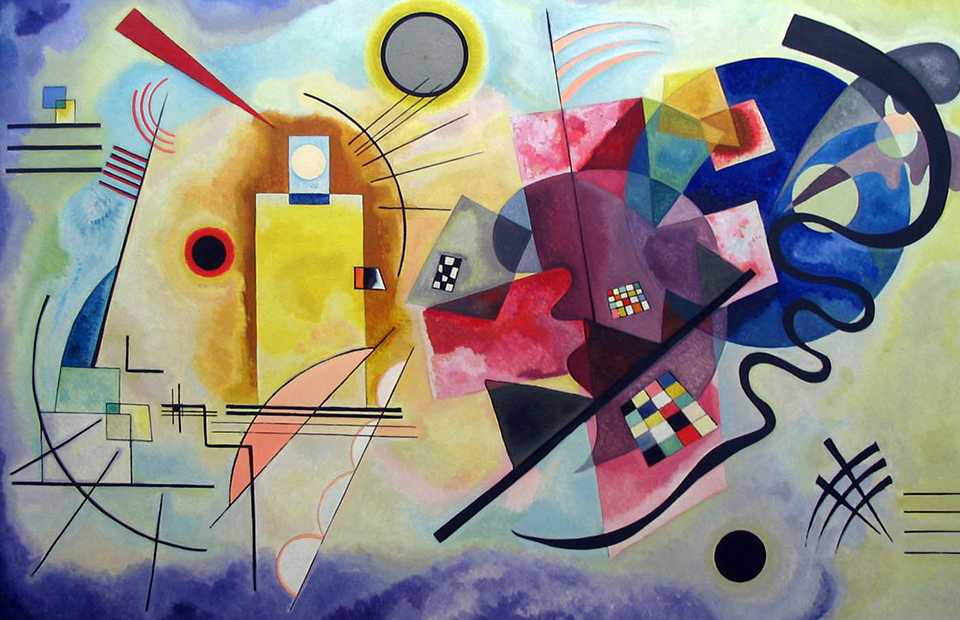 ВасилийКандинский. «Желтое-красное-синее», 1925