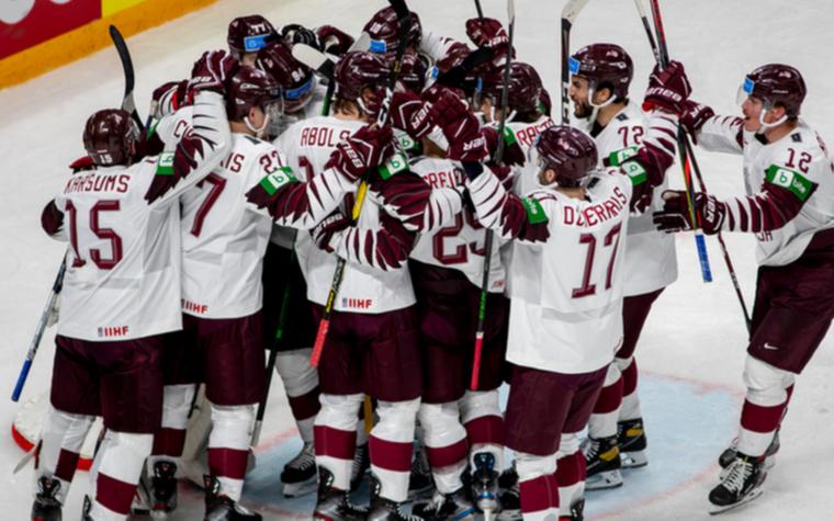 Фото: Хоккеисты сборной Латвии (Фото: сайт Федерации хоккея страны)