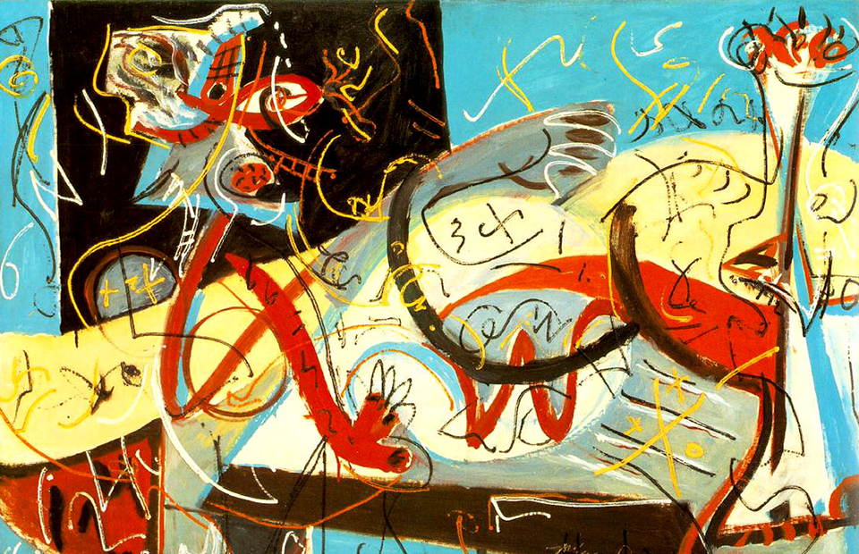 Джексон Поллок. «Stenographic Figure», 1942