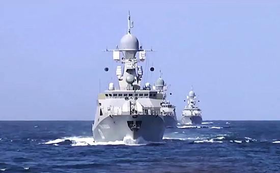 Корабли Каспийской флотилии произвели 26 пусков крылатых ракет морского базирования по позициям боевиков в Сирии