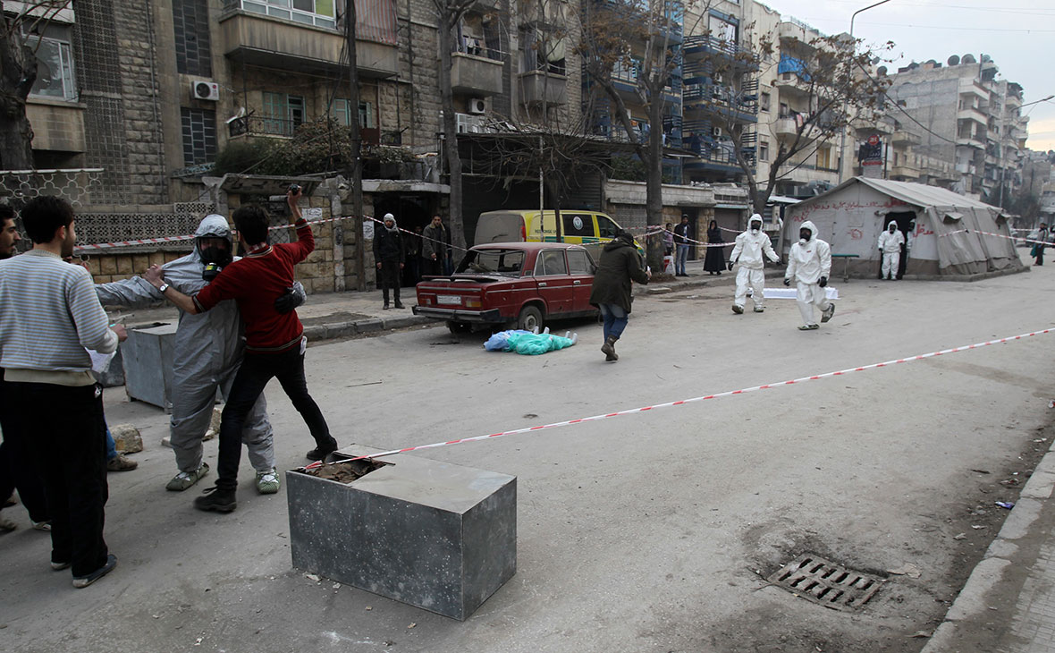 Учения по ликвидации последствий химических атак в Алеппо, Сирия. 2013 год