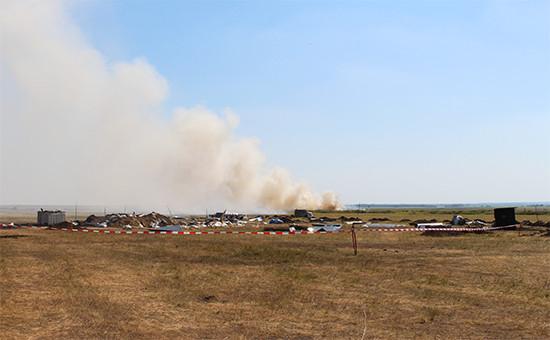 Во время проведения натурного эксперимента вПавлограде длярасследования причин крушения Boeing вДонбассе виюле 2014 года