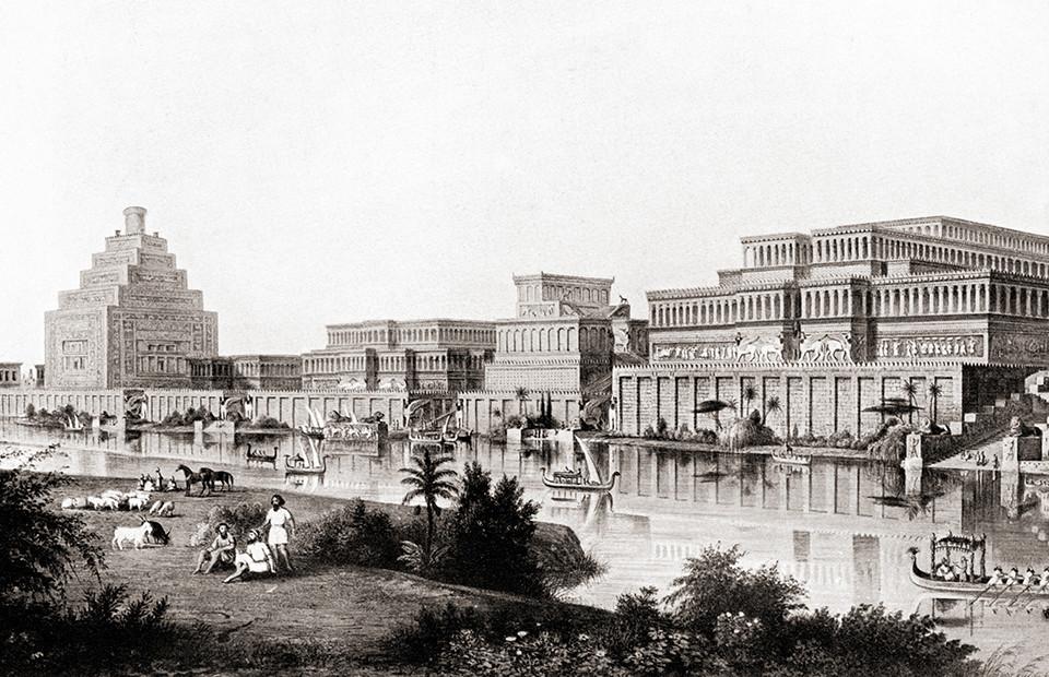 Реконструкция вида древнего города Ниневии