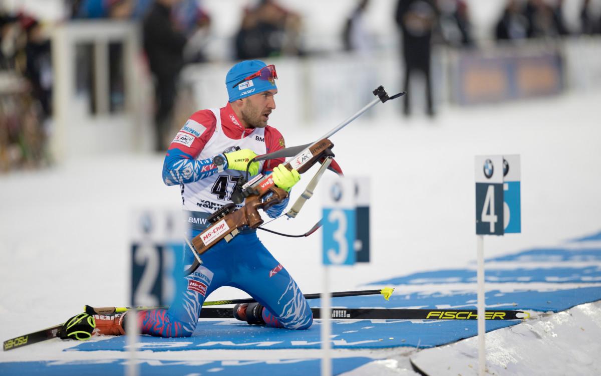 Биатлонист сборной России Евгений Гараничев