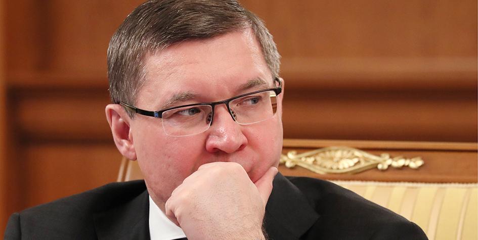 Министр строительства и ЖКХ России Владимир Якушев на заседании правительства РФ