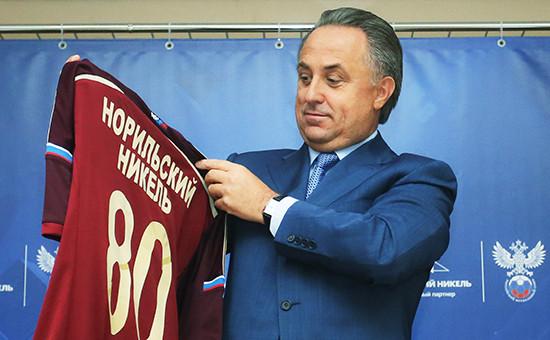 Министр спорта РФ, президент Российского футбольного союза Виталий Мутко на пресс-конференции о перспективах развития футбола в России
