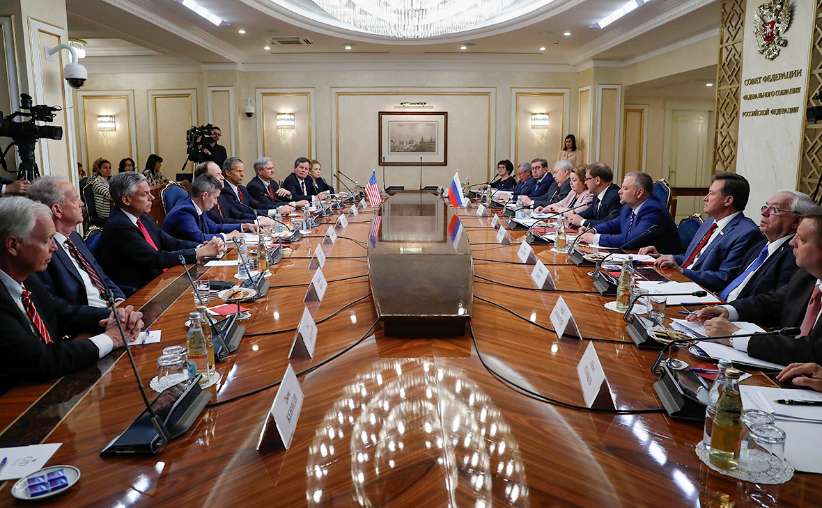 Встреча с делегацией конгресса США в Совете Федерации России