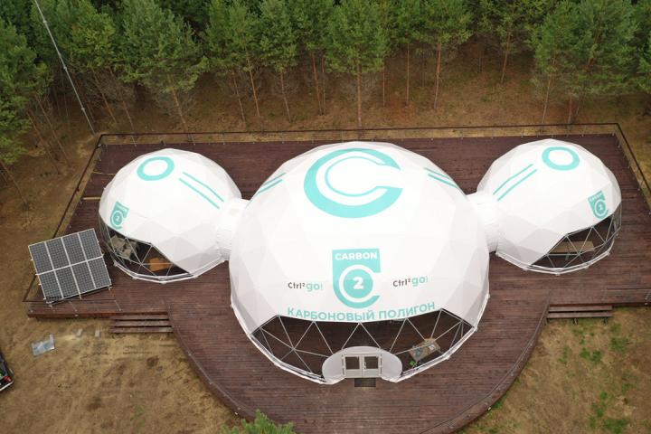 Площадка карбонового полигона в национальном парке «Угра» в Калужской области