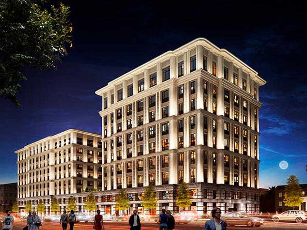 Архитектурный проект нового здания на Тверской улице