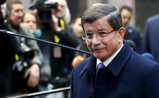 Турецкий премьер-министр Ахмет Давутоглу
